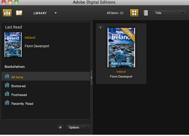 Screen shot Digital Editions