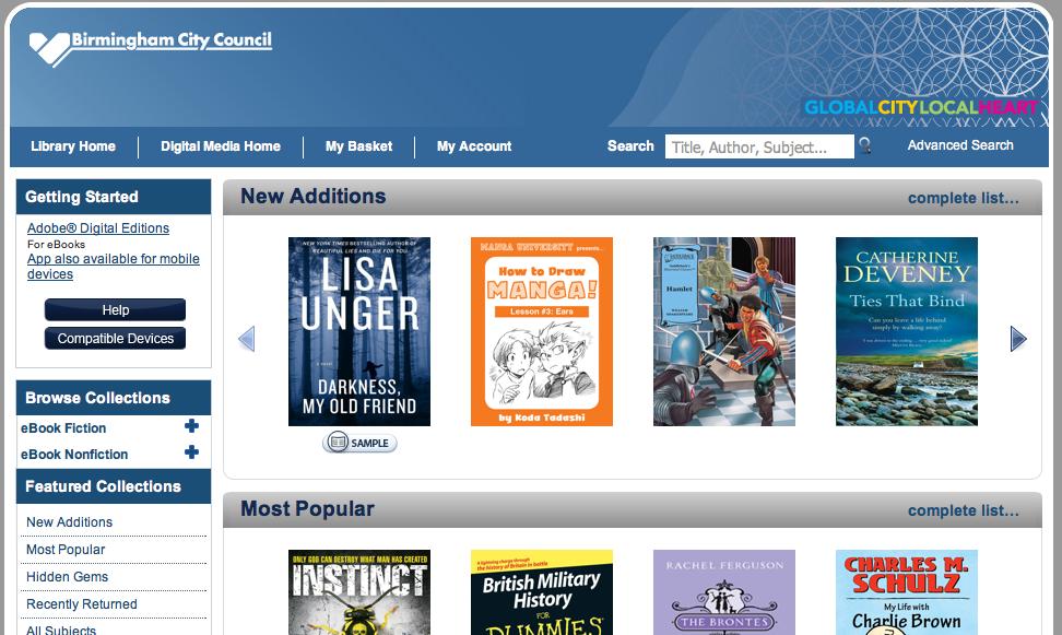 Screen shot main page